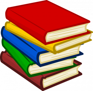 a stack of storybooks