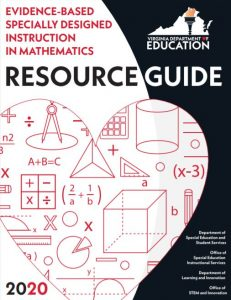Cover to the Virginia Department of Education's Evidence Based Specially Designed Instruction in Mathematics Resource Guide
