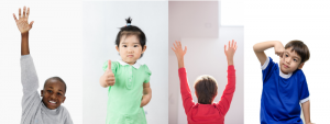 children using gestures